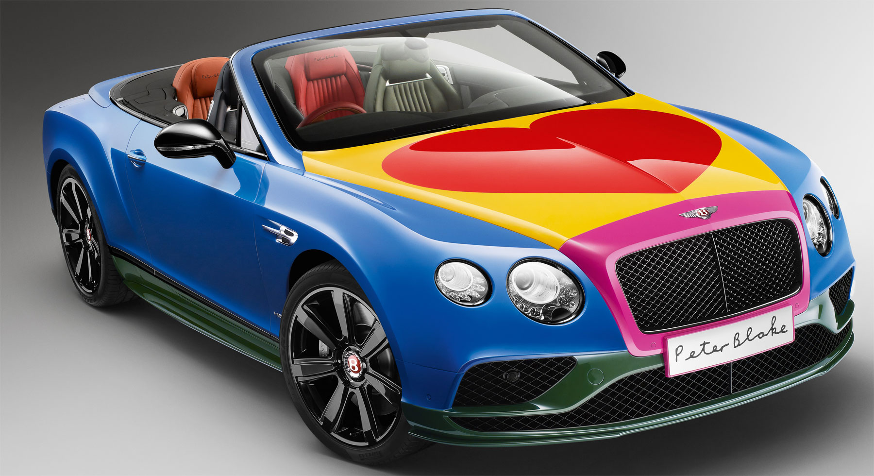 Bentley unveils new Pop Art Bentley V8 by artist Sir Peter Blake