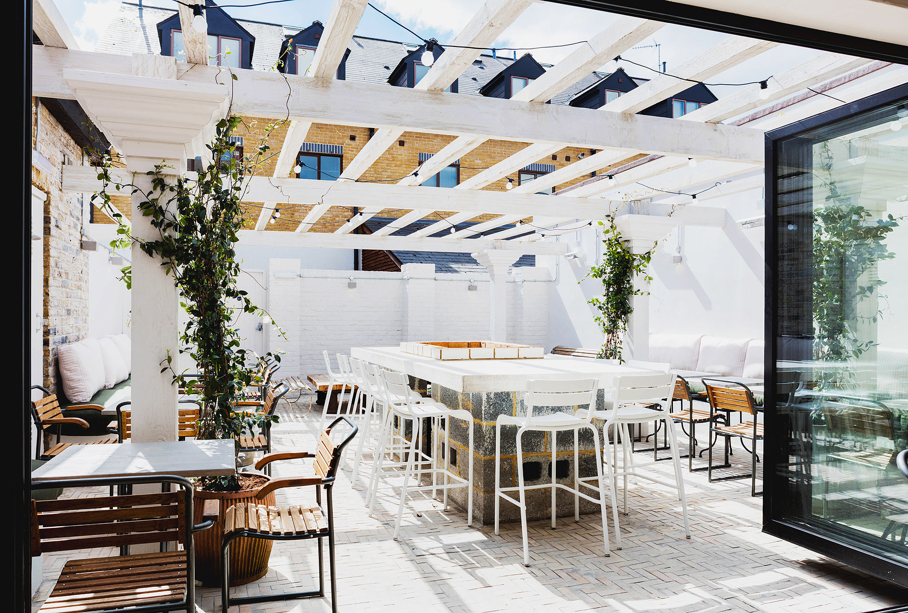 The biggest transformations is the previously forgotten courtyard space, which has burst back into life
