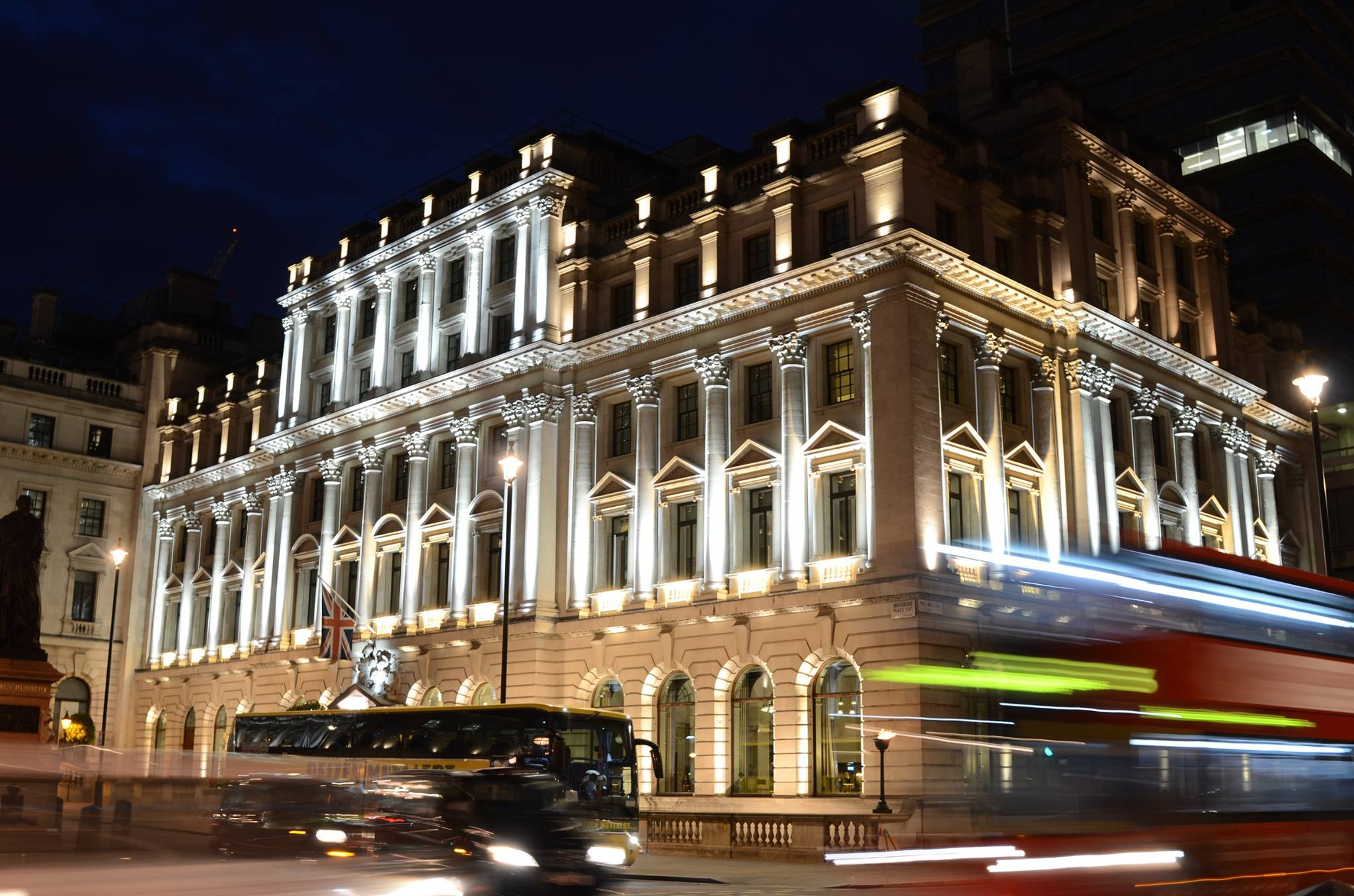The grand Neo-Classical building is also home to Sofitel St James hotel, which adjoins the Balcon restaurant.