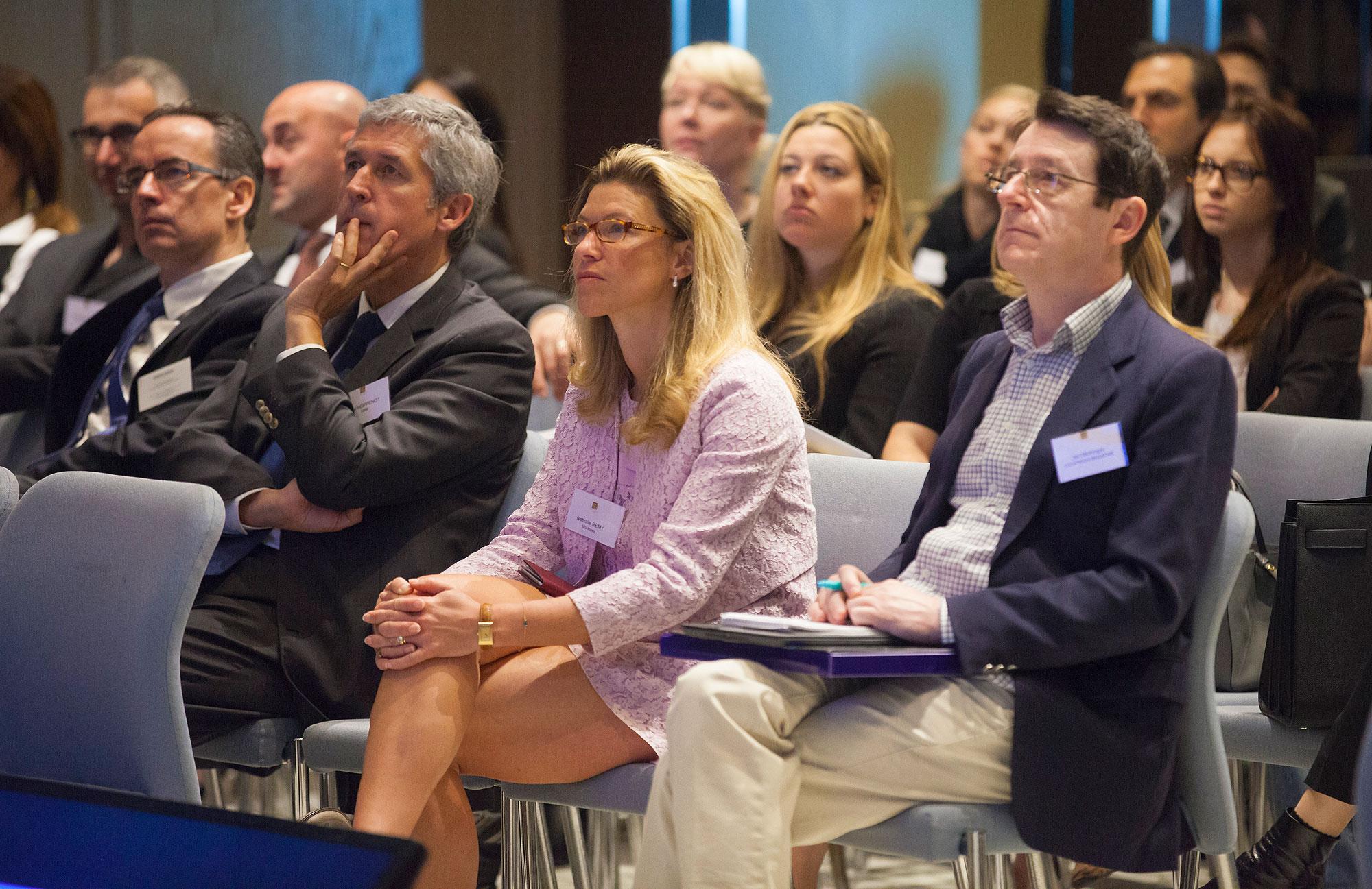 Jon McKnight [R] at the Monaco Symposium On Luxury