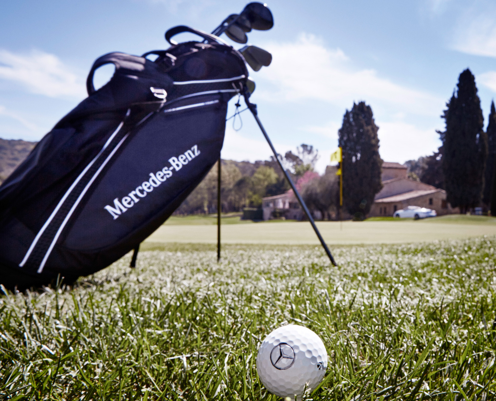 Drive in style with the 2016 mercedes benz golf collection for Mercedes benz golf bag