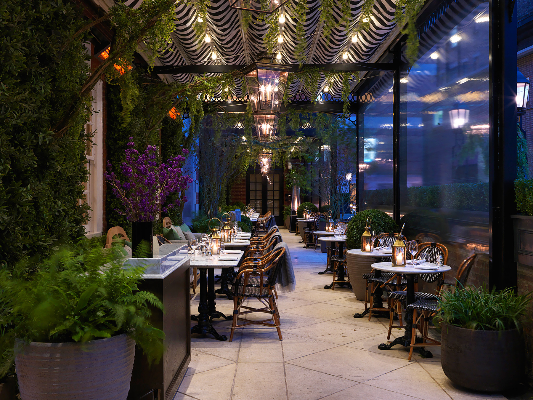 Dalloway terrace at the bloomsbury london for The terrace bar and food