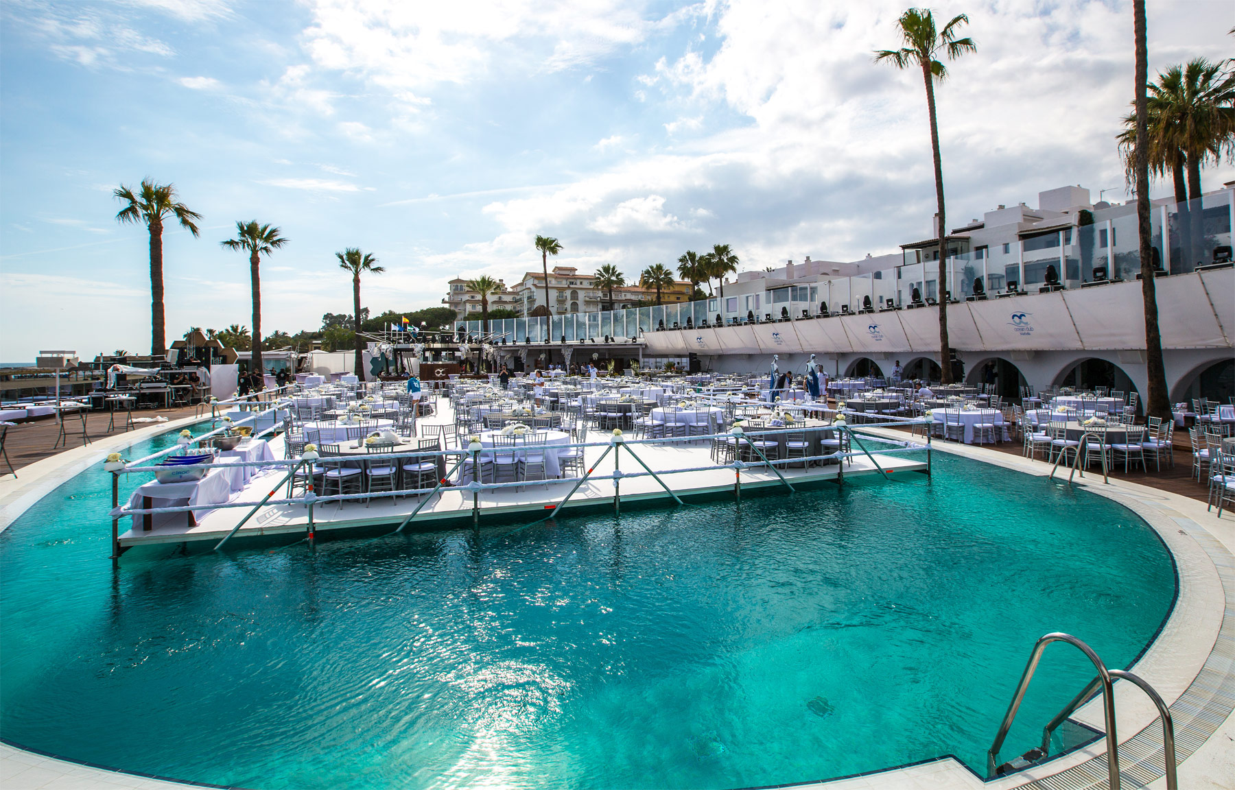 A World Of Whites And Blues At Ocean Club Marbella