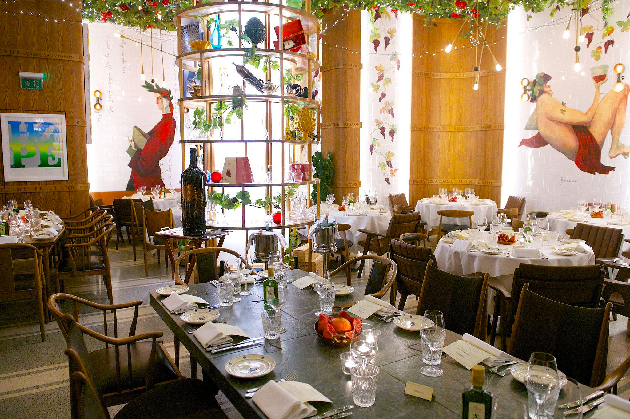 Italian Frescobaldi Restaurant In Regent Street London