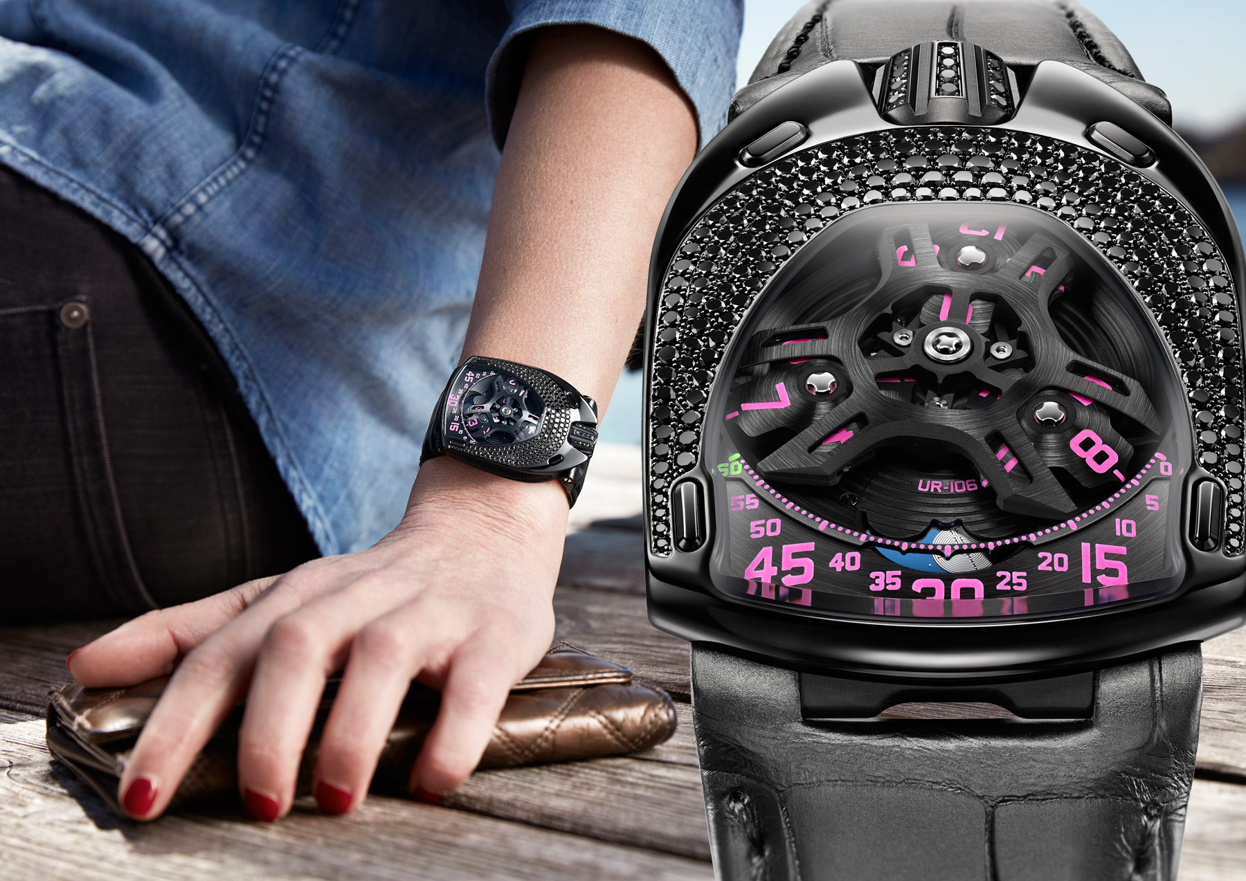 The Pink And Black Attack Is Back With The URWERK UR-106 Pink Lotus