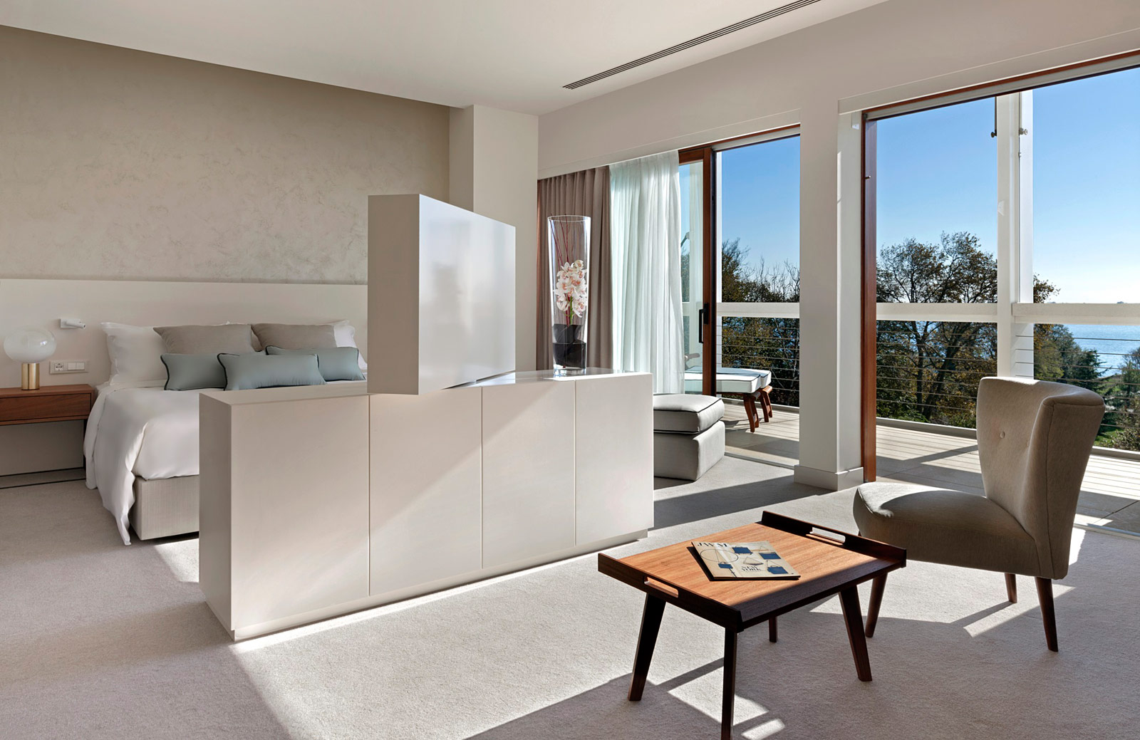 A junior suite at the J W Marriott's Venice Resort & Spa