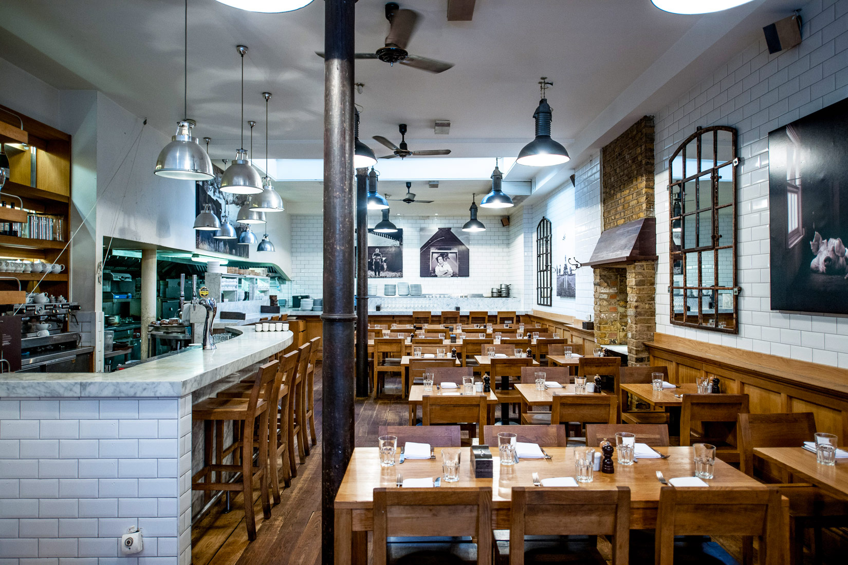 Tom's Kitchen in Chelsea. Photograph by David Griffen Photography