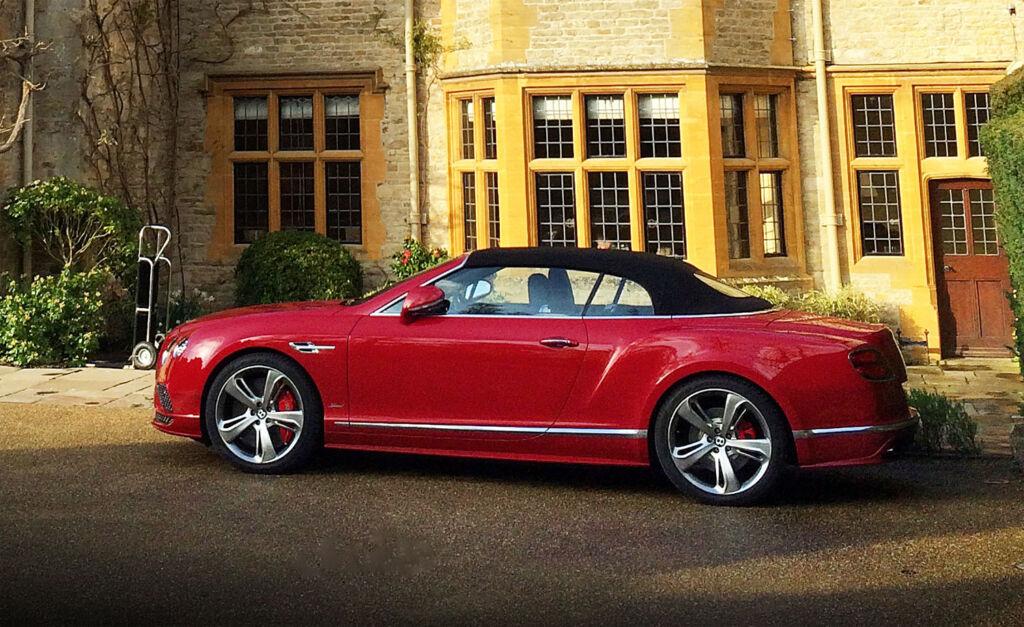 The Bentley Continental we were loaned for our visit to Belmond's Le Manoir aux Quat'Saisons