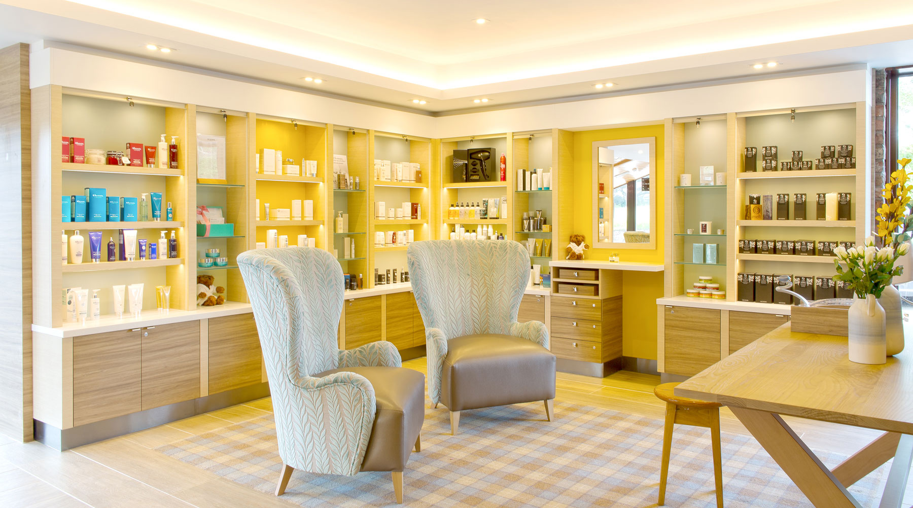 Moddershall Oaks Country Spa Retreat Reception and Spa Shop