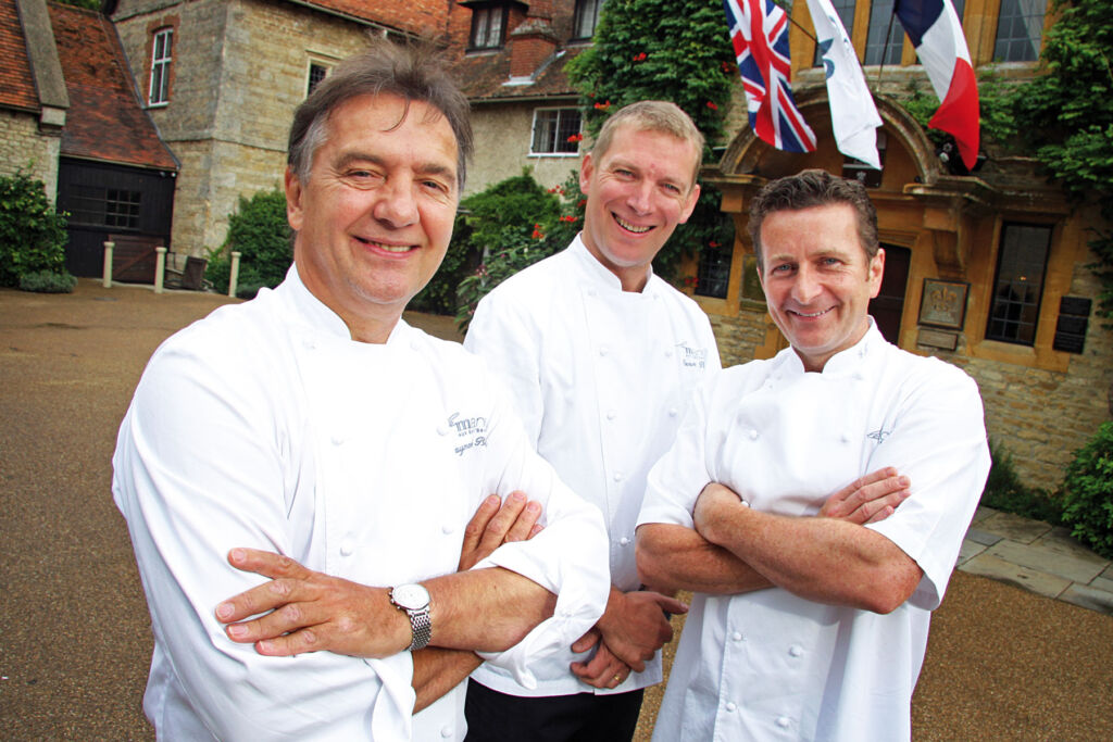 Picture of Raymond Blanc with some of his chefs