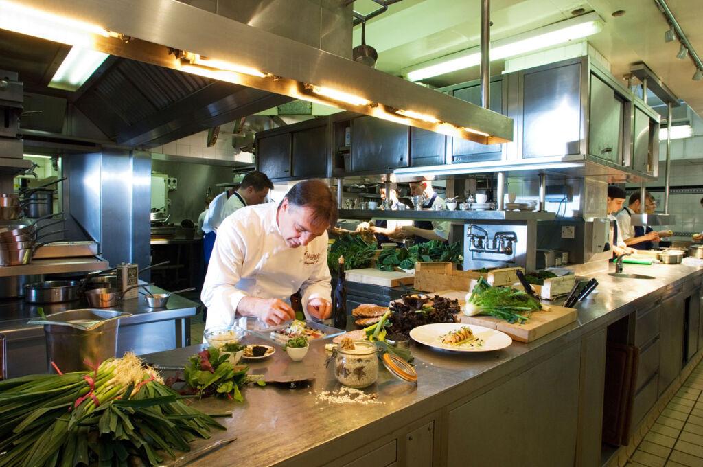 Raymond Blanc in the Le Manoir Kitchen
