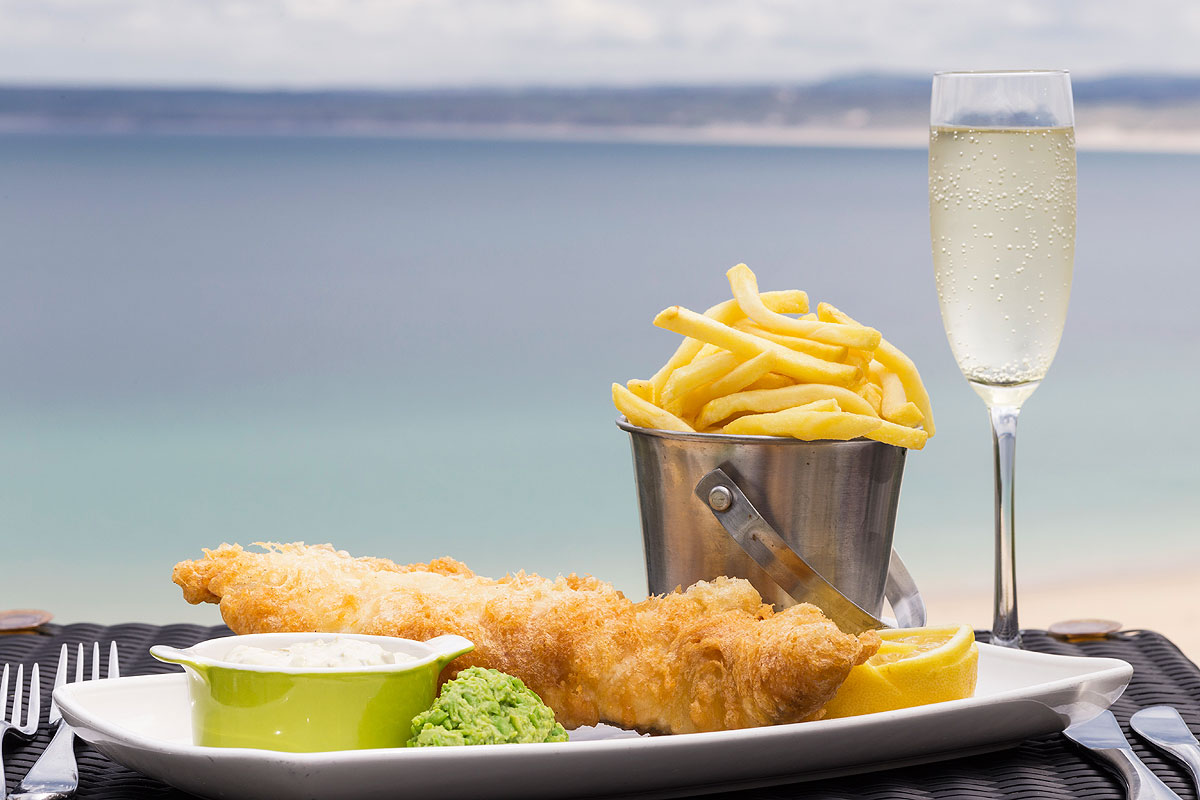 Fizz & Chips at the St Ives Harbour Hotel