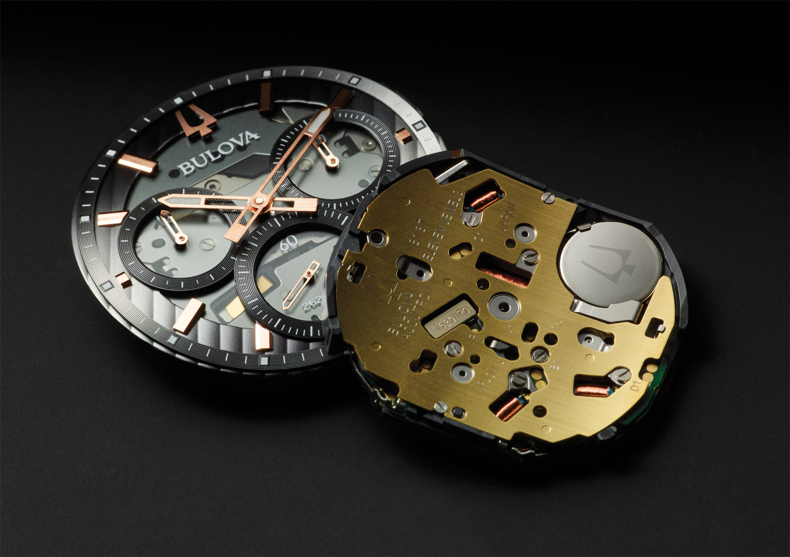 The innovative movement inside the Bulova CURV