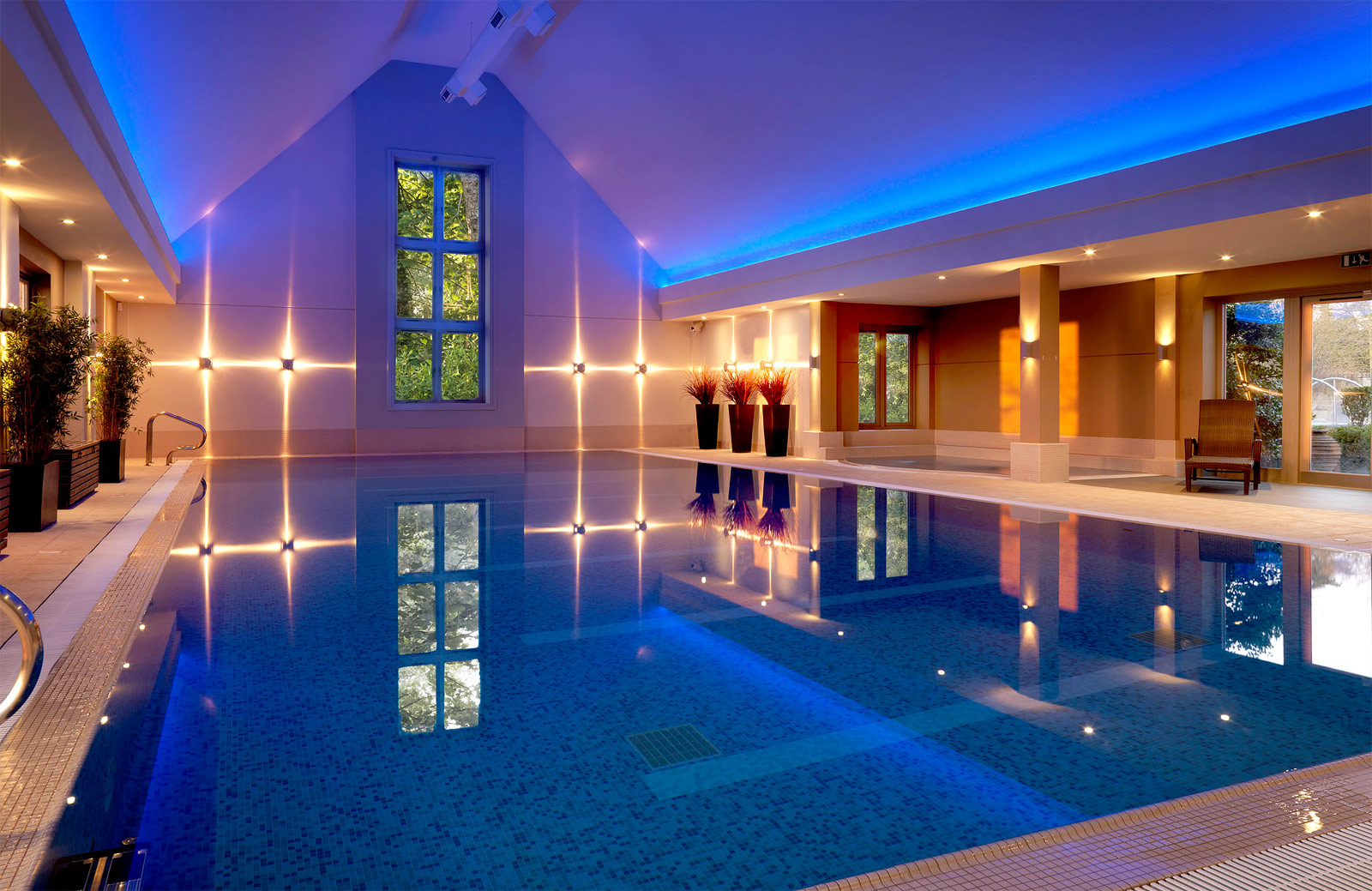 The indoor swimming pool at Calcot