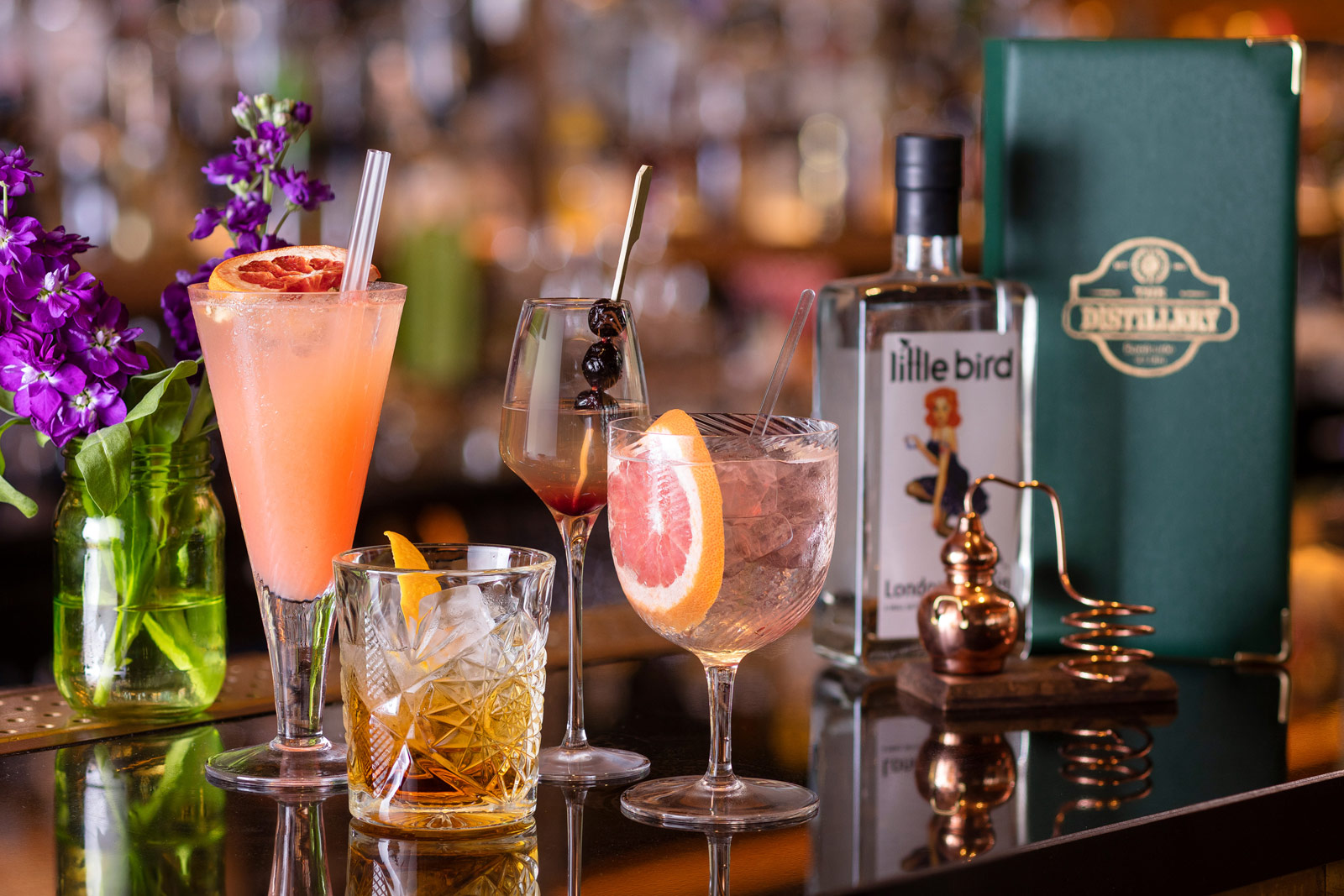 Little Bird Gin Summer Residency At The Hilton Bankside's Distillery bar
