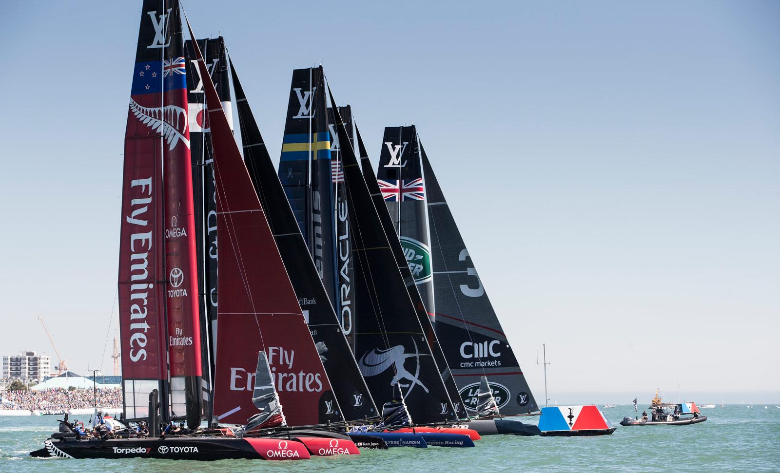 home victory for sir ben ainslie u0026 39 s sailing team  u0026 land