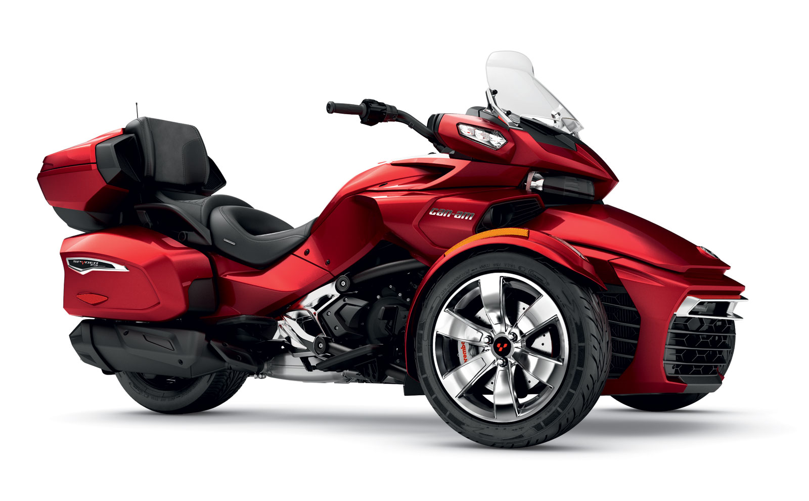 can am spyder f3 limited brings touring capability to the line up. Black Bedroom Furniture Sets. Home Design Ideas
