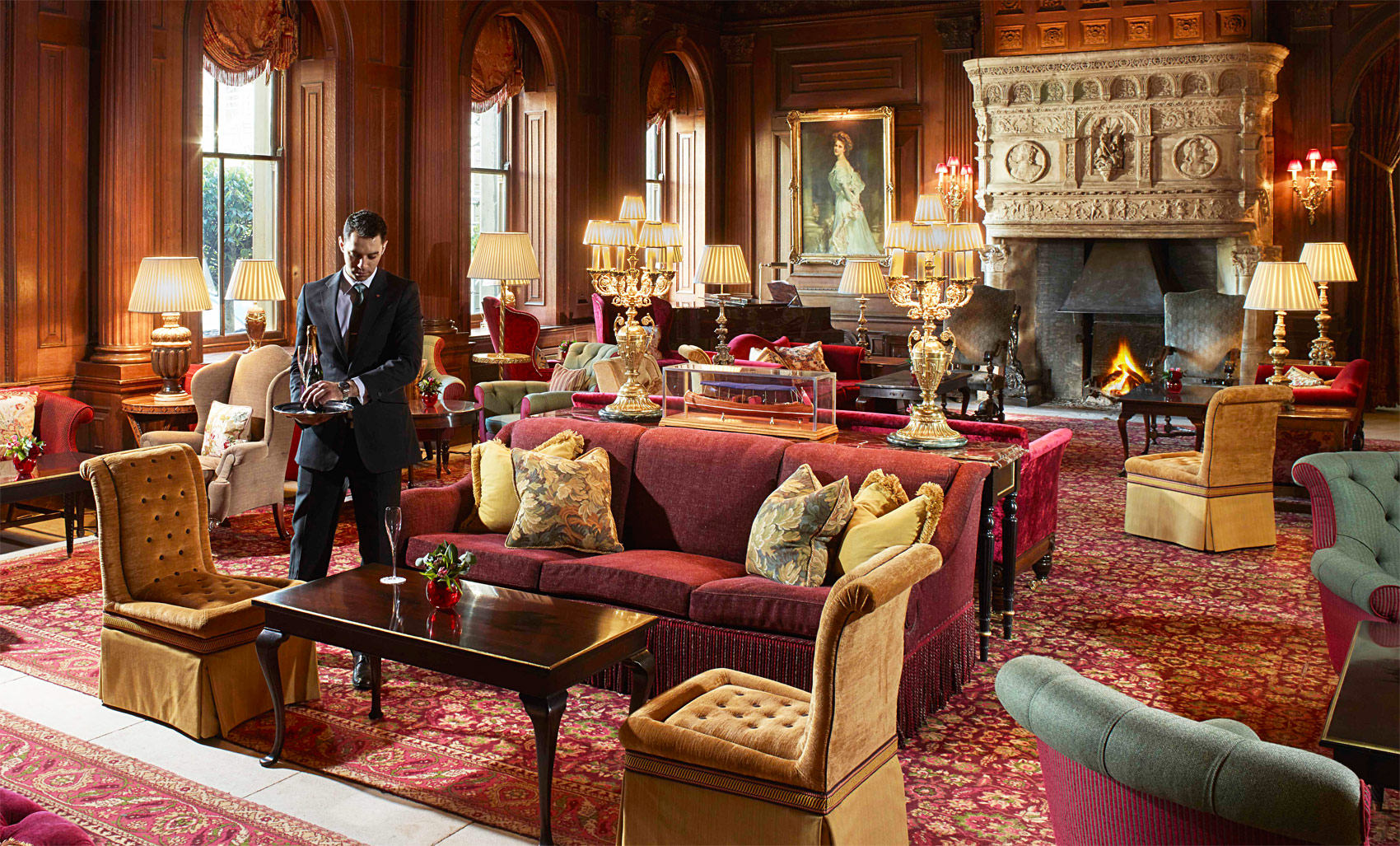 The great hall at Cliveden House Hotel