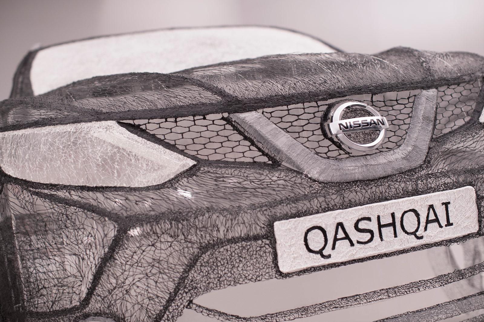 Nissan Draws Full-Sized Qashqai Black Edition Using 3Doodler 3D Pen