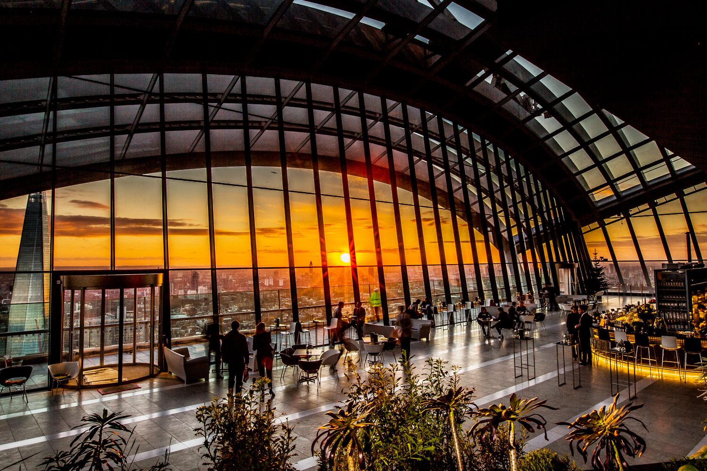 London's Sky Garden Elevates British contemporary cuisine