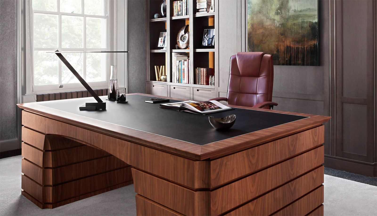 British Furniture Maker Smallbone Unveils New Desk And Wine Wall