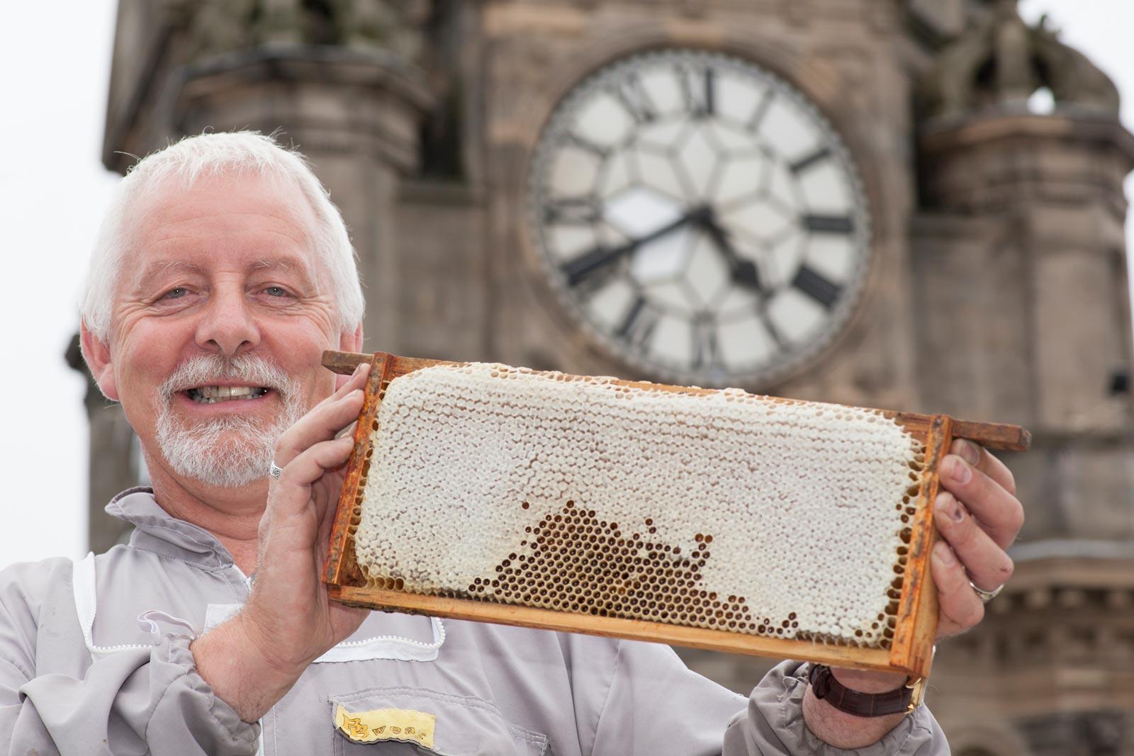Scottish Honey Beekeeper Brian Pool at the Balmoral, Edinburgh