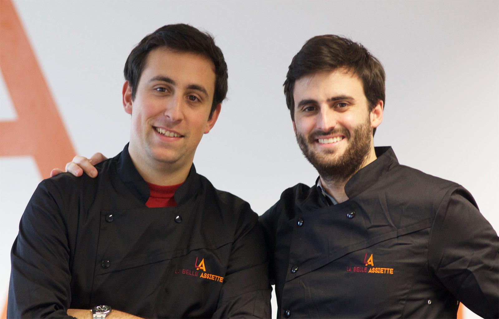 Co-founders of La Belle Assiette Stephen and Giorgio
