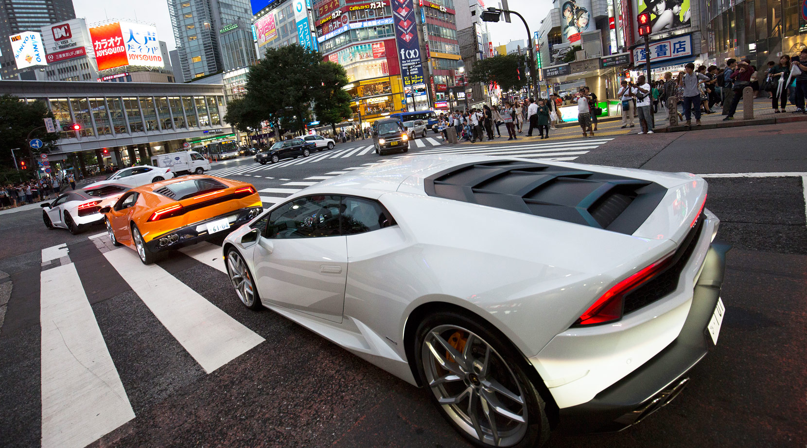 Tokyo's Supercar And Motoring Fans Gather To Celebrate Lamborghini Milestones