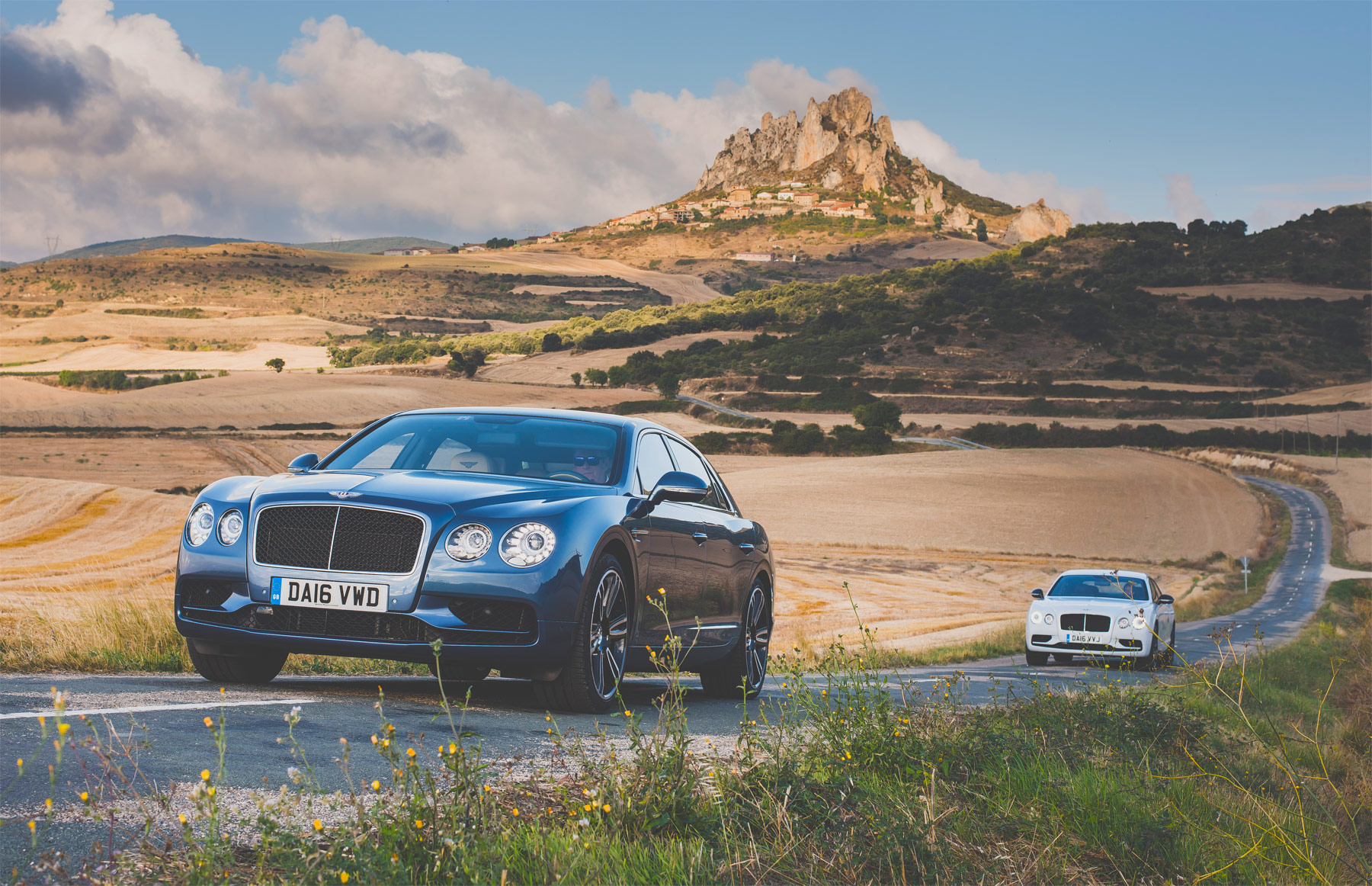 BENTLEY FLYING SPUR V8 S Test Drive in Spain