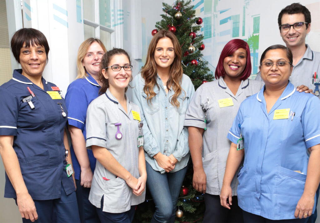 Made in Chelsea's Binky Felstead Visits Young Patients At Royal Brompton Hospital 4