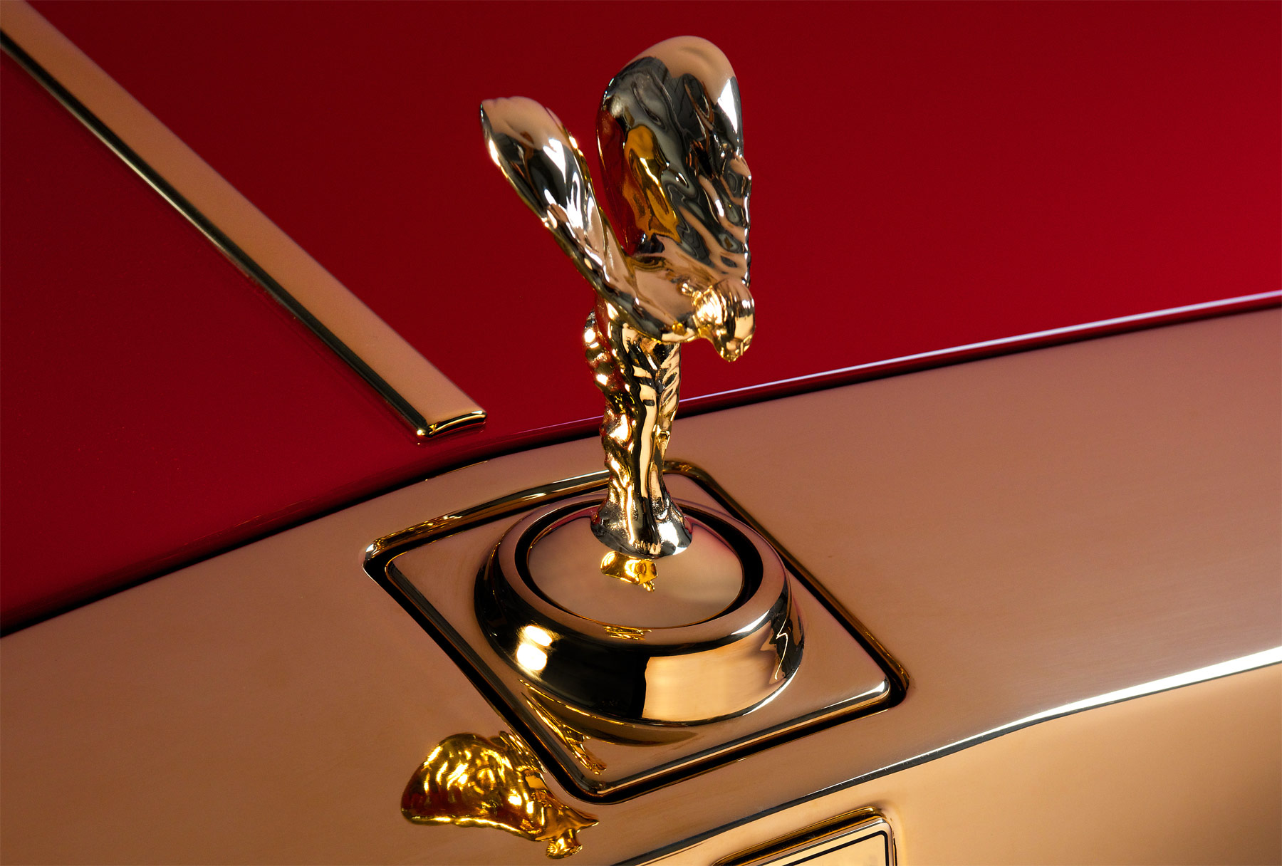 24 carat gold-plated Spirit of Ecstasy