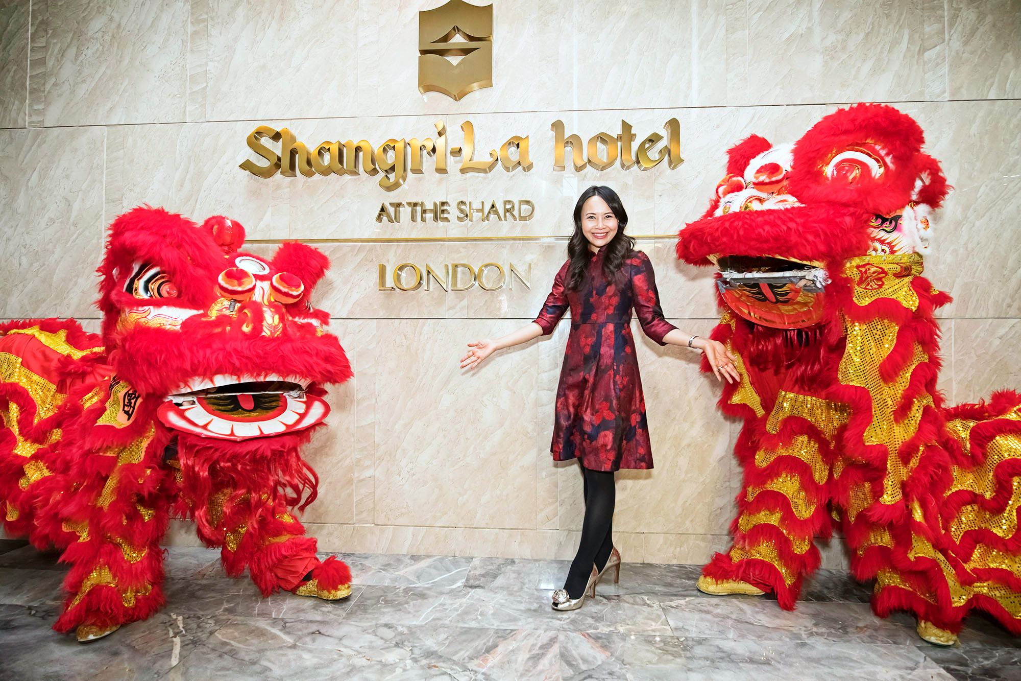 Jamie Ndah celebrates Chinese New Year in style at The Shard with celebrity Chef Ching He Huang