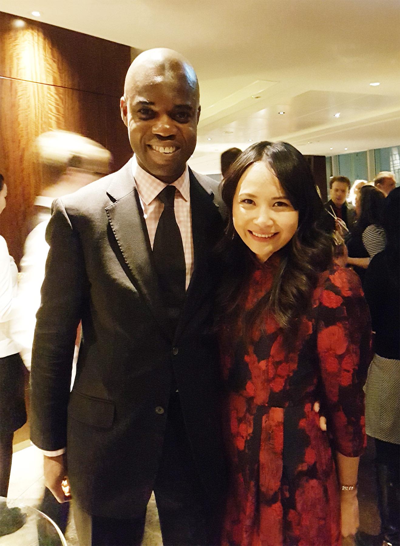 Jamie Ndah and Chef Ching He Huang