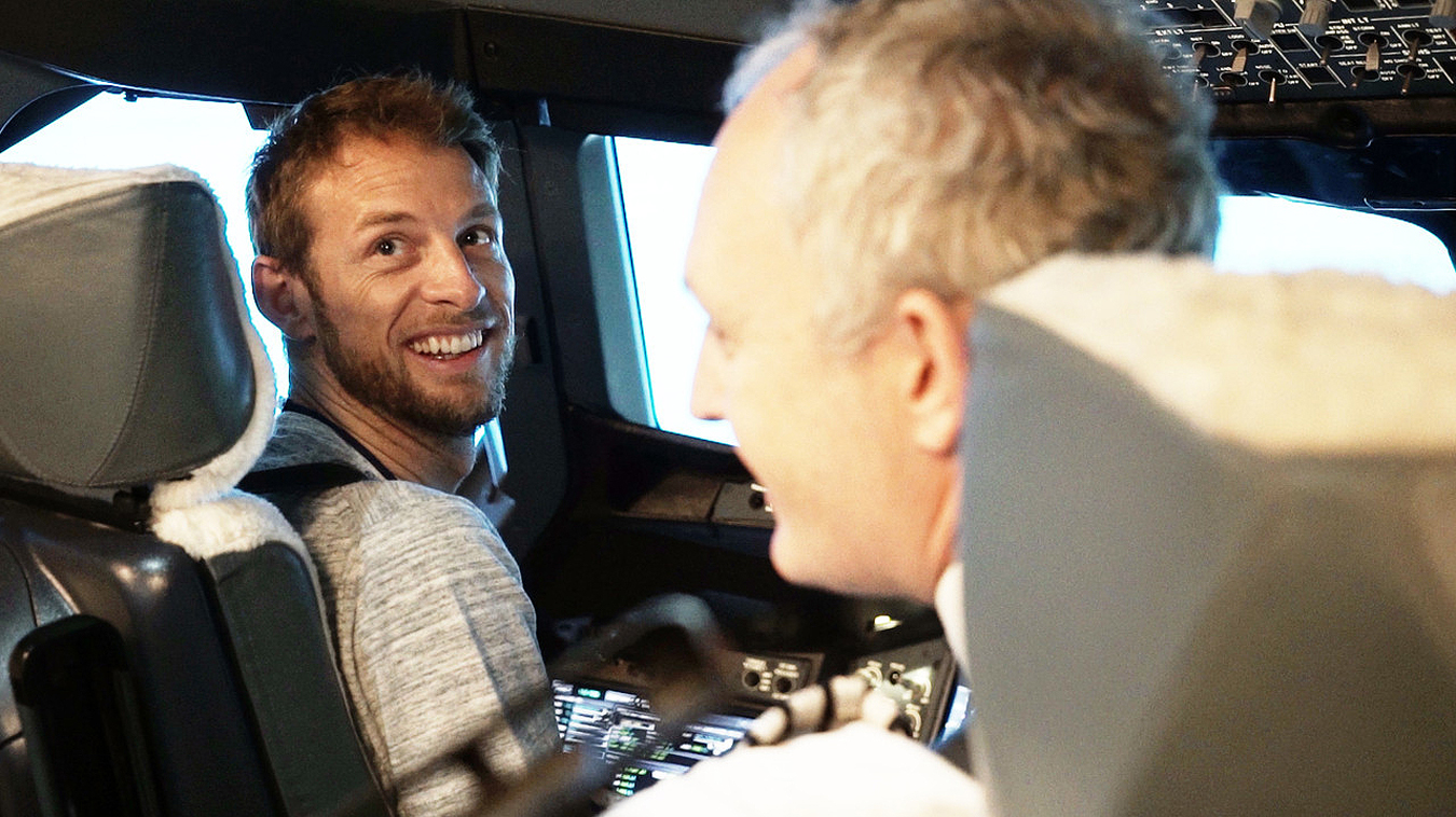 Jenson Button Goes Full Throttle In A British Airways Airbus 380