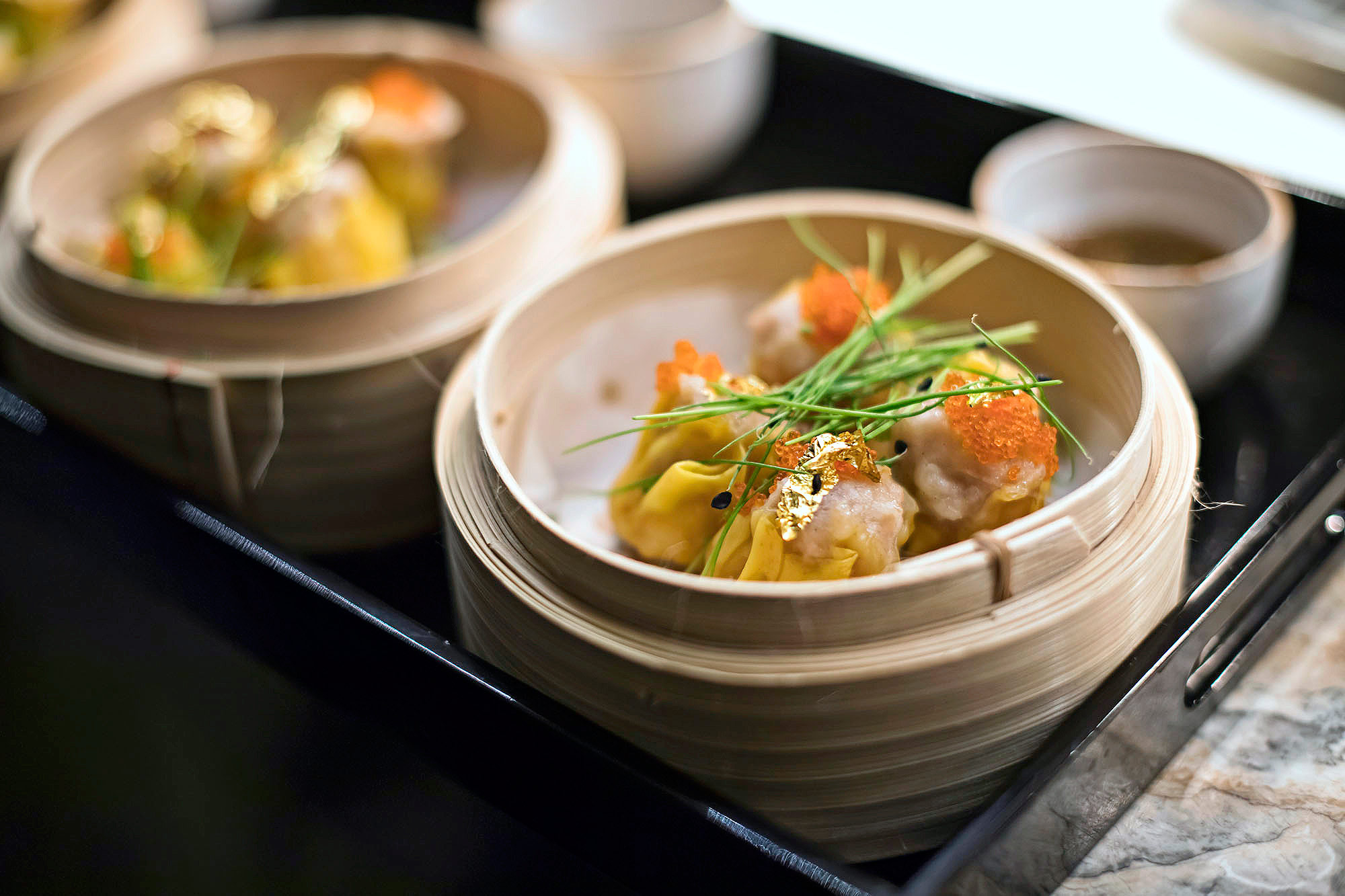 Pork & Prawn, Scallop Moneybag dumpings