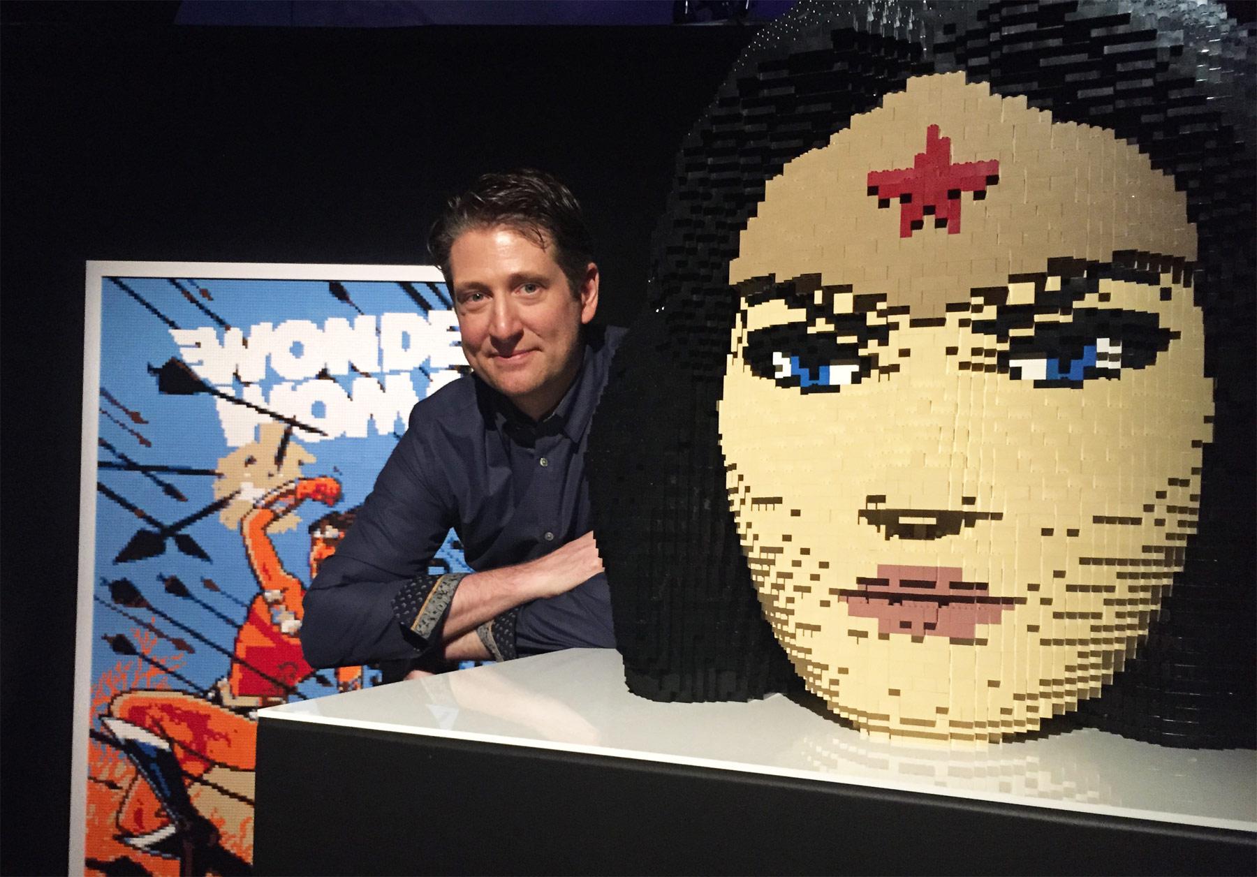 Artist Nathan Sawaya Brings Superman, Wonder Woman & Batman To London