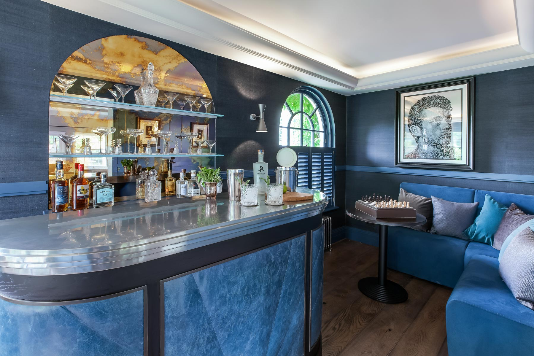The Mark Taylor Design Bespoke Blue Bar