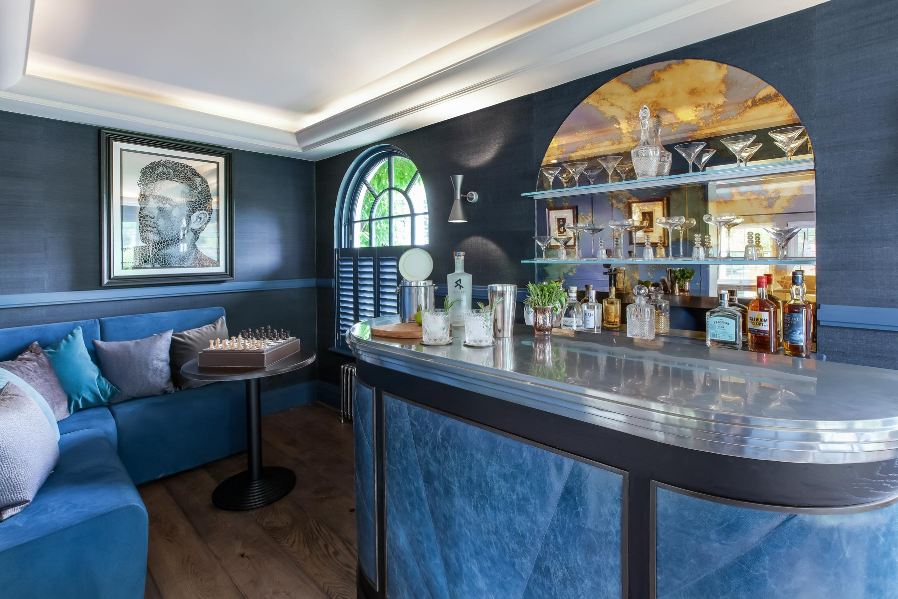 Mark Taylor Design Draws Inspiration From The Berkeley Hotel's Blue Bar
