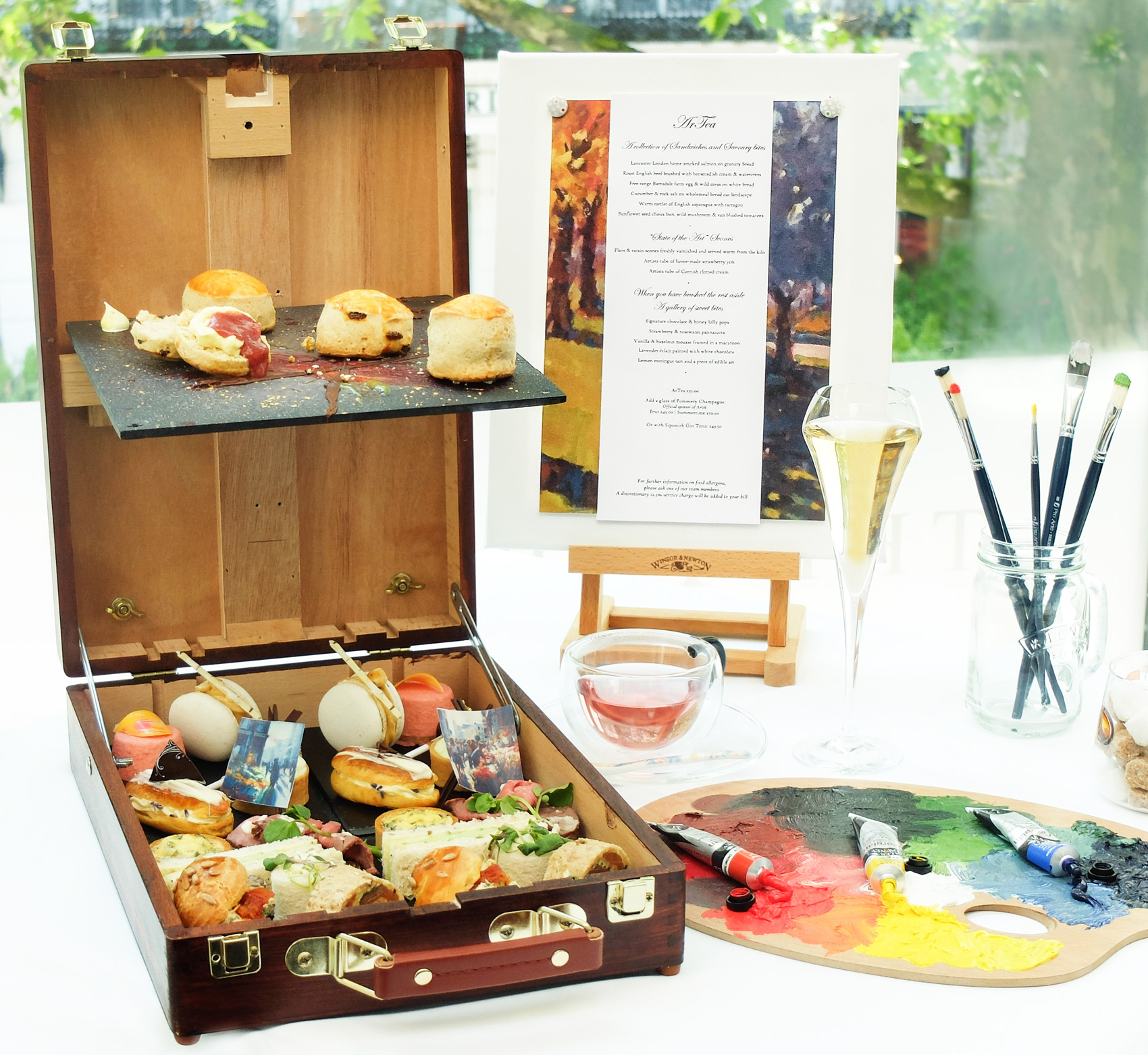 The Art Of Afternoon Tea With A Healthy Cocktail At Lancaster London