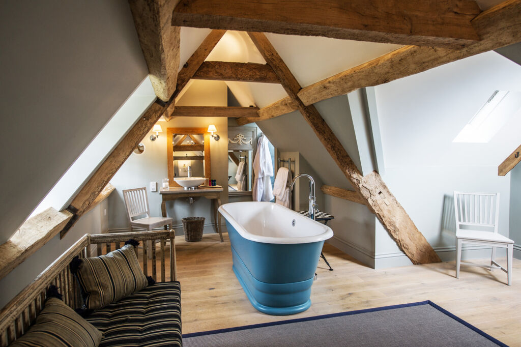 A freestanding bath at Thyme