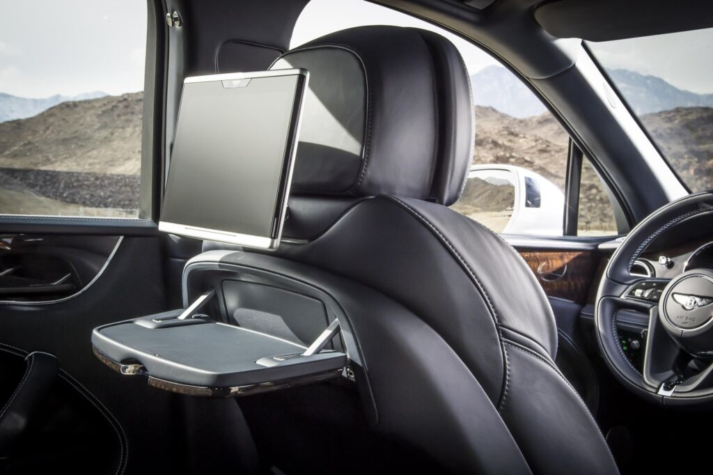 Rear passengers are well catered for in the Bentayga diesel.