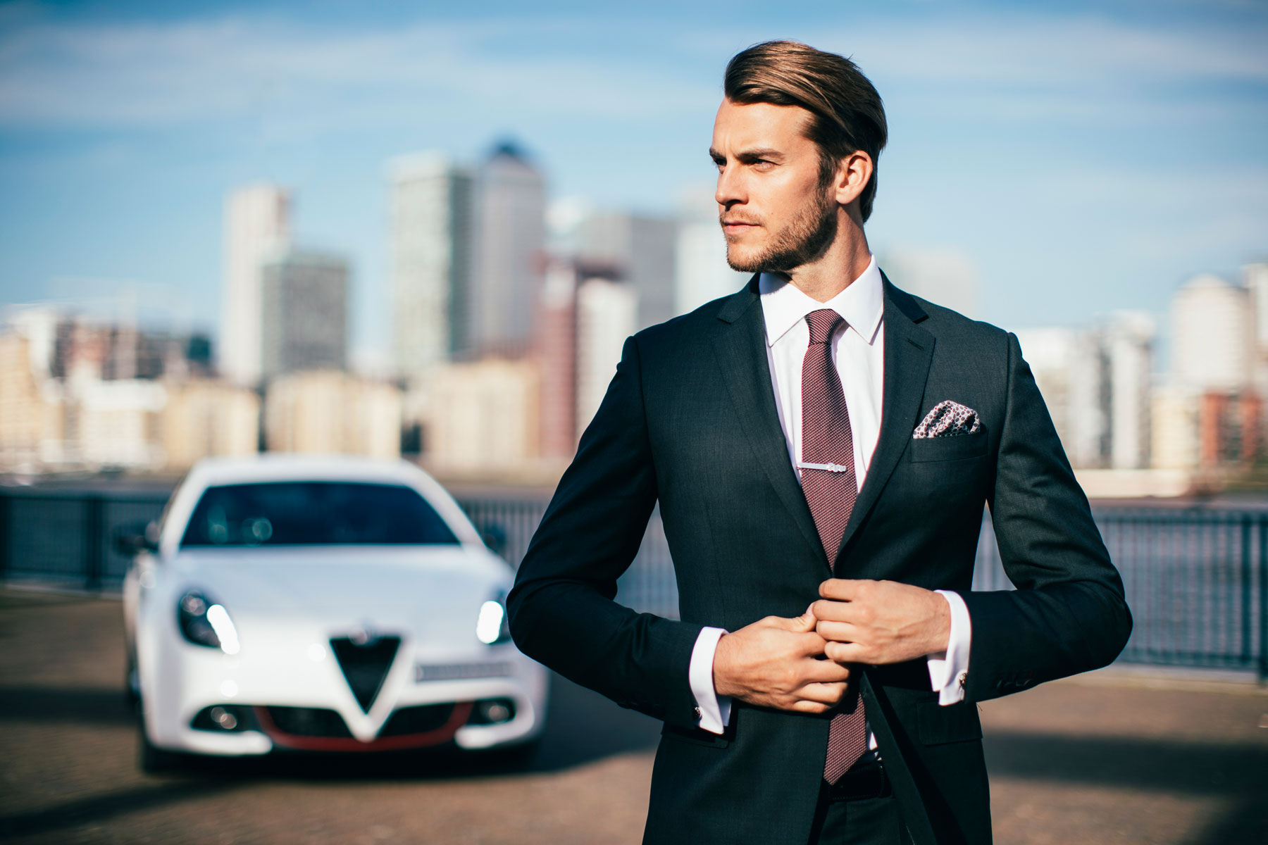Alfa Romeo Turns on the Style with British tailor Hawes & Curtis