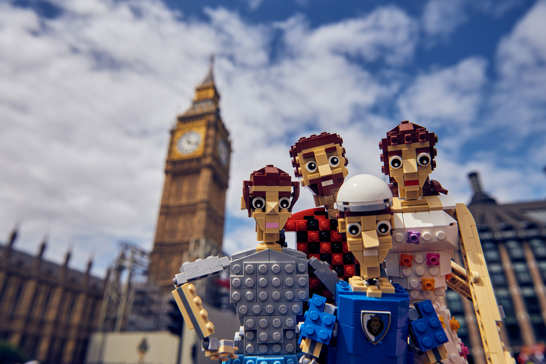 Modern Family Made of Lego Bricks Spotted Across London 2