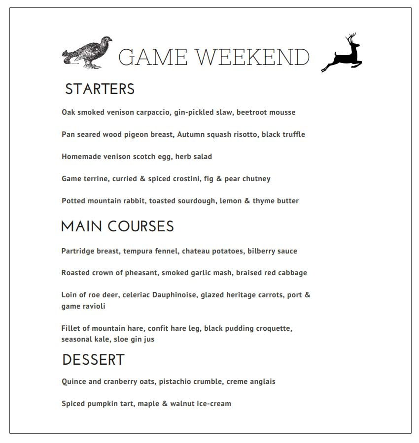 The Annual Game Food Weekend at Perthshire's East Haugh House 7