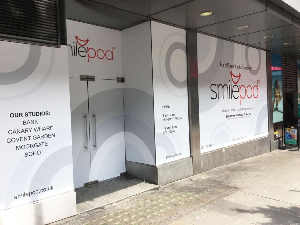 Exterior shot of a Smilepod clinic