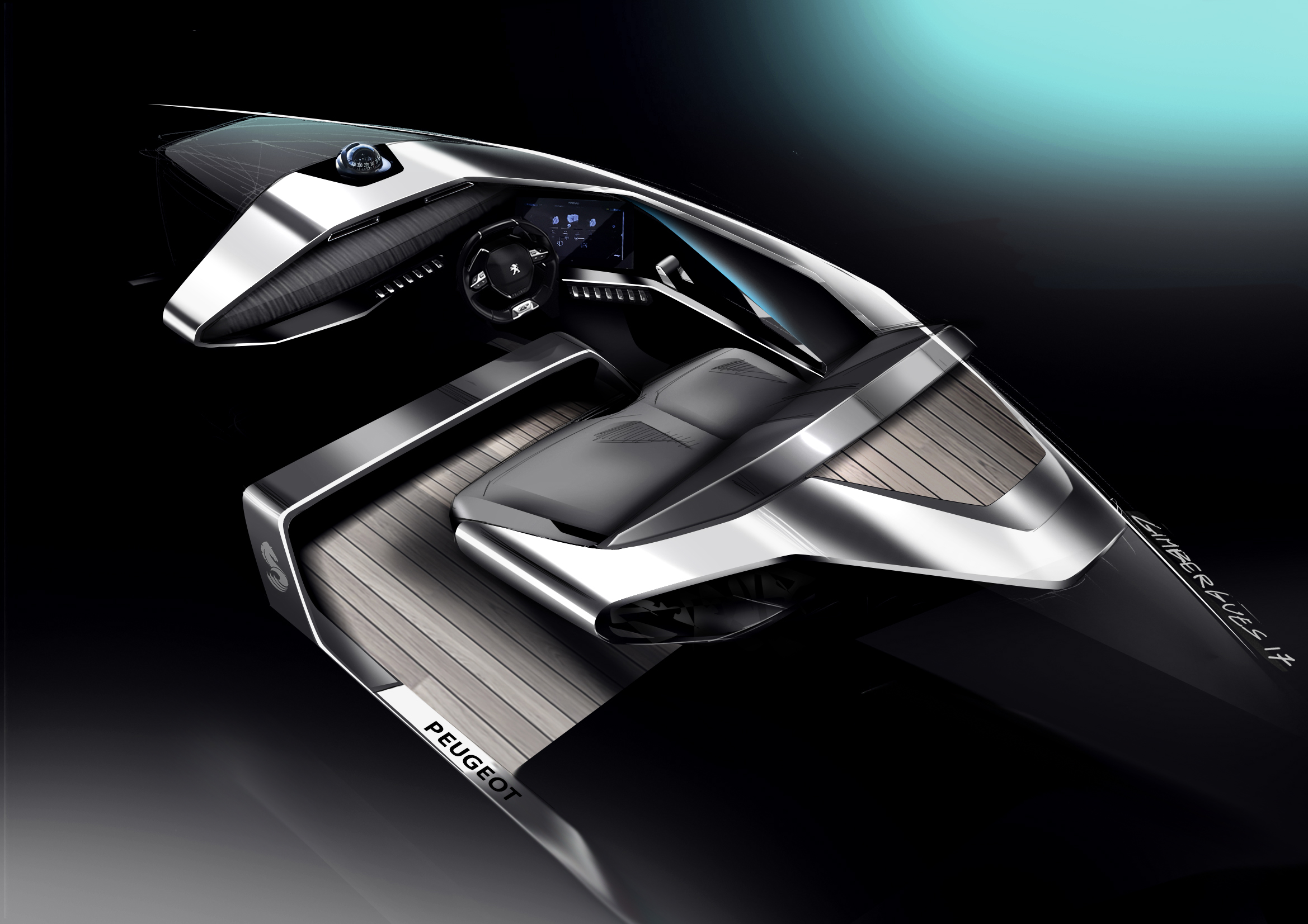 Sea Drive Concept Boat: A Combination of Peugeot and Beneteau Technology