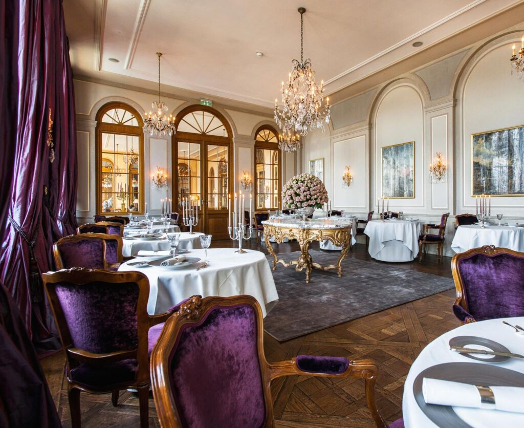 Dining at the Grand Hotel Les Trois Rois in Basel