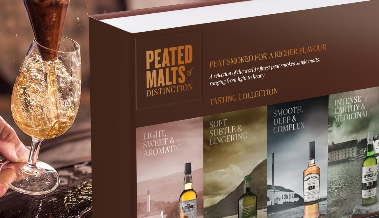 Peated Malts of Distinction® whisky gift pack
