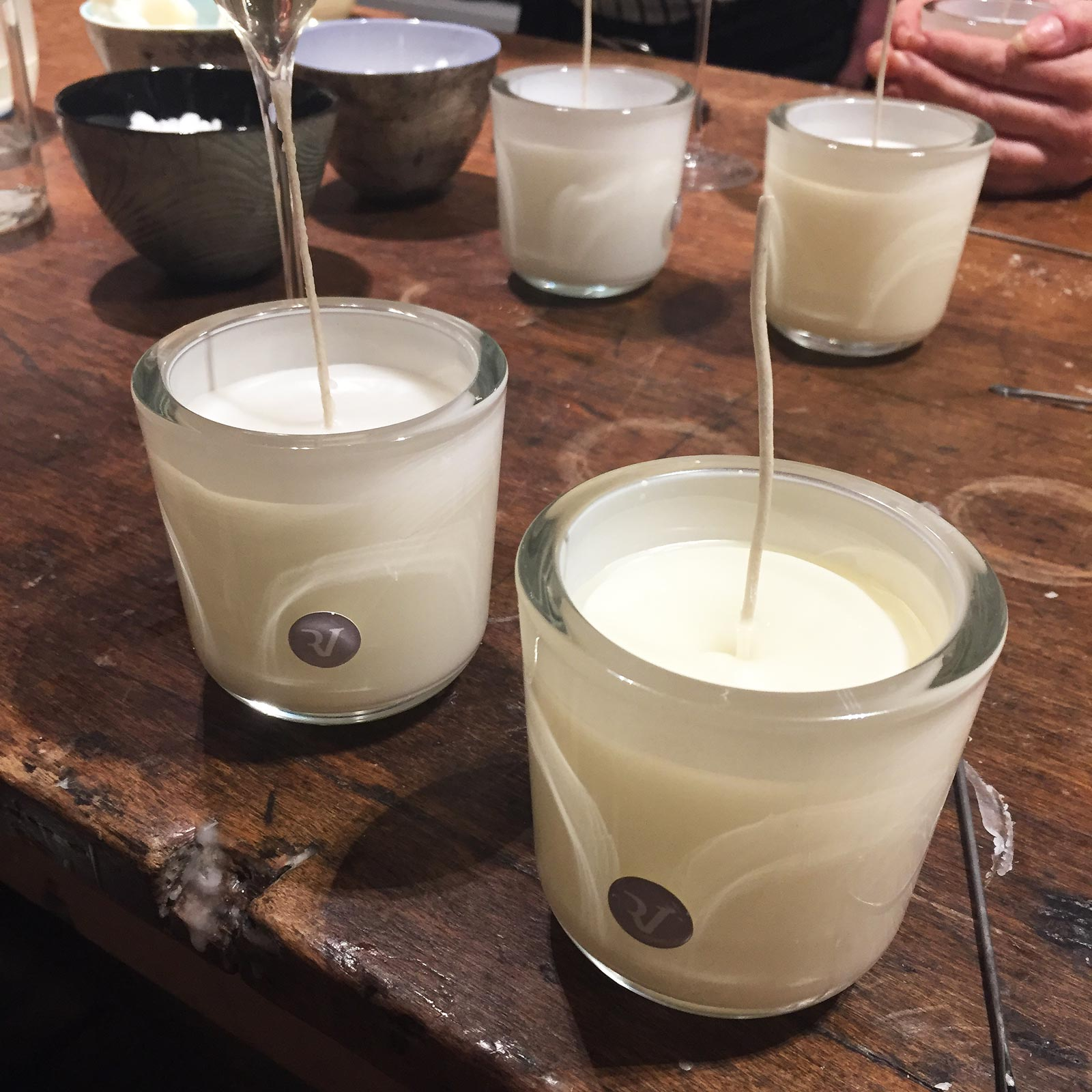 Candle pouring at the Dorchester Hotel in London