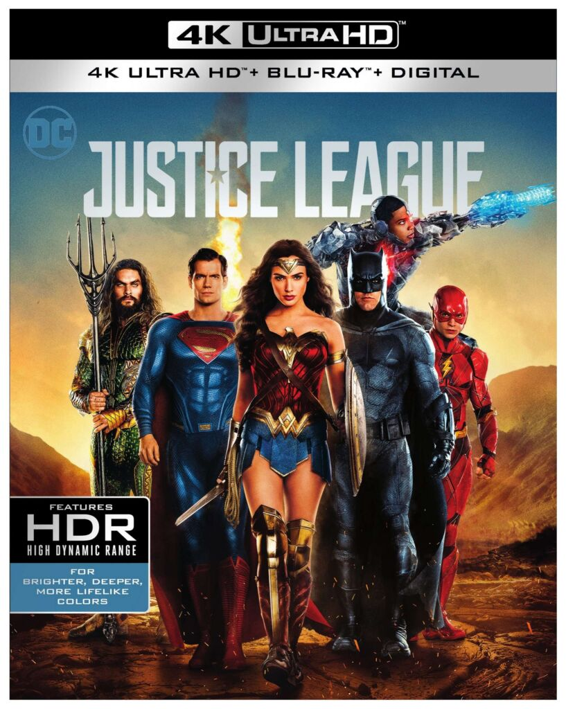 Justice League movie with the 4K Ultra HD Blu-ray Combo Pac